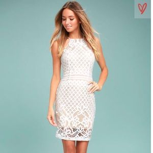Lulu's • Steal A Kiss White Lace Dress